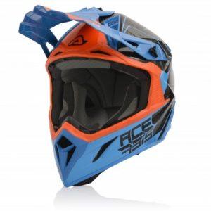 Acerbis Helm Steel Carbon Orange/Blau