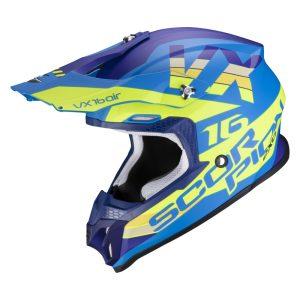 Scorpion VX-16 AIR X-TURN Matt Blue-Neon Yellow