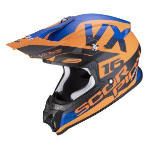 Scorpion VX-16 AIR X-TURN Matt Orange/Blau