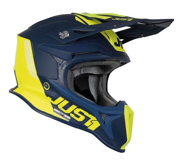 Just1 Helm J18 MIPS Pulser Blau/Gelb
