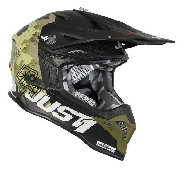 Just1 Helm J39 Kinetic Grün/Camo/Schwarz