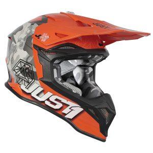 Just1 Helm J39 Kinetic Grau/Camo/Orange