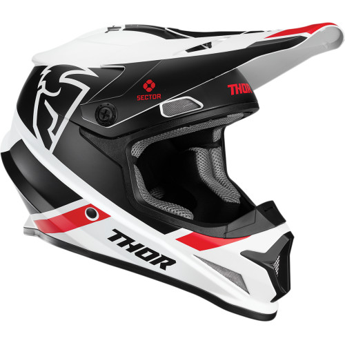 Thor Sector Split MIPS® Helm Rot/Schwarz/Weiß