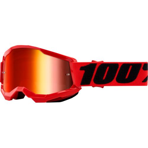 100% Strata 2 Jugend Schutzbrille Rot