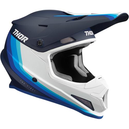 Thor Helm Sector Mips Blau-Weiß