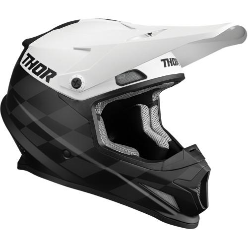 Thor Helm Sector Birdrock Schwarz-Weiß