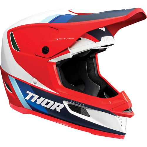 Thor Helm Reflex Rot-Weiß-Blau