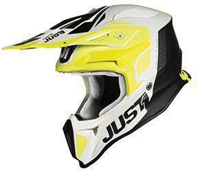 Just1 Helm J18 Gelb-Weiß