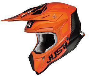 Just1 Helm Orange-Schwarz