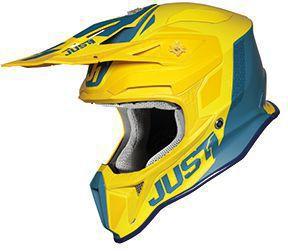 Just1 Helm Gelb-Blau